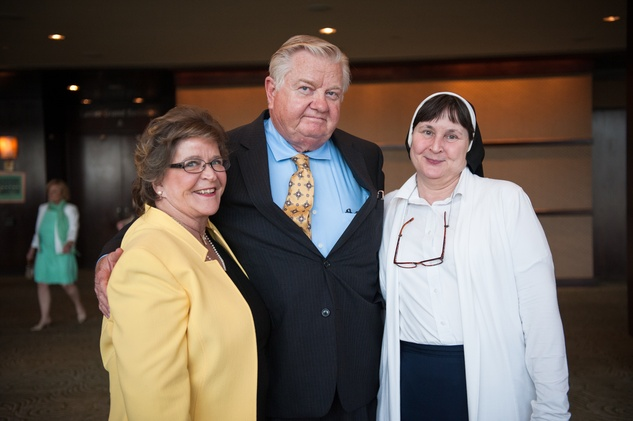 Candy and Dr. Ernest Cronin, left, with Sister Therese Kelleher at the CHRISTUS Foundation for HealthCare spring luncheon April 2015