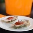 Veuve Clicquot Airstream champagne Hors d'oeuvre oysters