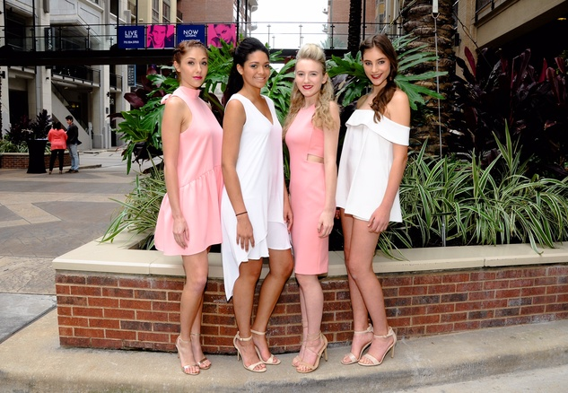 West Ave Destination Design, models in clothes from Tootsies