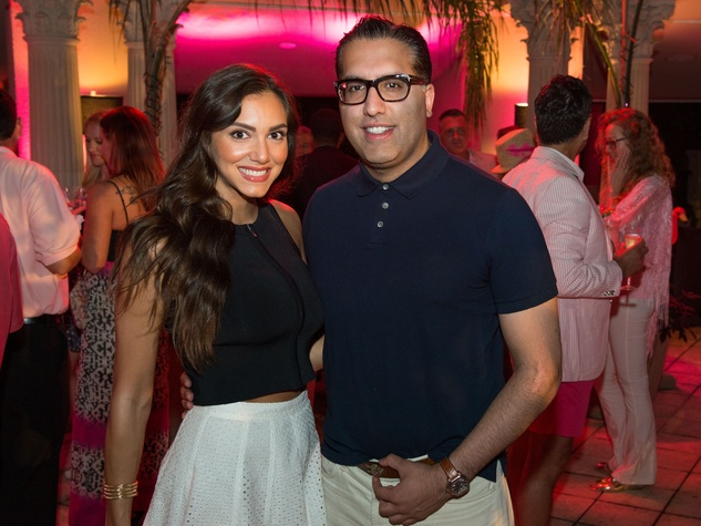 17 Irena Hickson and Raja Ratan at the Pink Party at Hotel ZaZa July 2014
