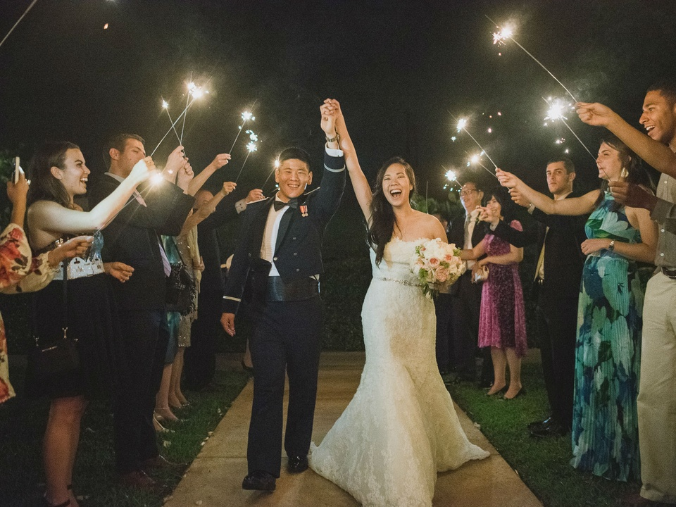 Pauline and Dayle Chang sparklers