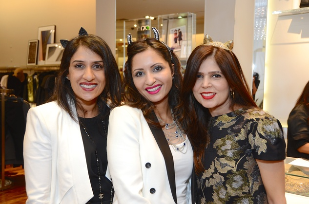 1 Reno Bhatti, from left, Shubnum Masood and Habiba Dhanani at Mandy Kao and Nihala Zakaria birthday party October 2014