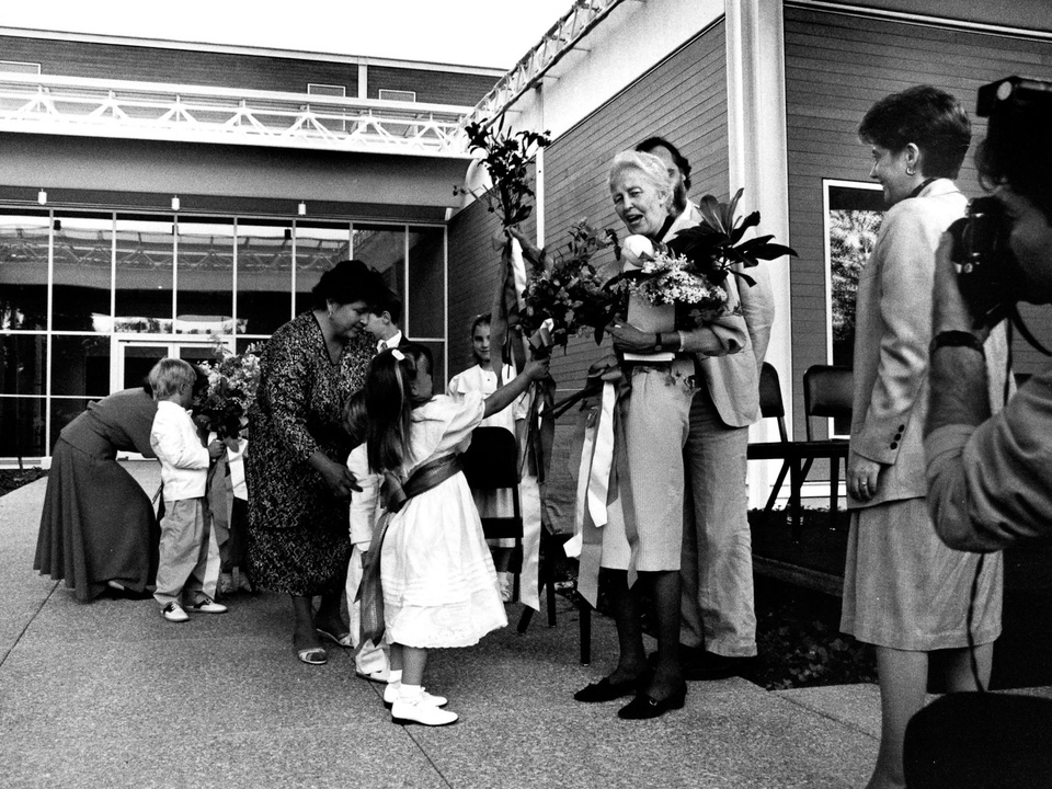 News_20_The Menil Collection opening, June 3, 1987_Dominique de Menil_grandchildren