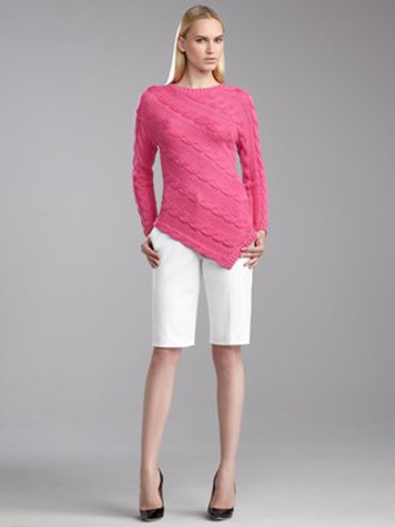 St. John Collection emma stretch cotton Bermuda shorts