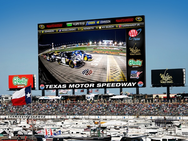 Texas motor speedway set to unveil most mega hd video for Hotels closest to texas motor speedway