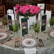 Table setting at Moores School Gala March 2014