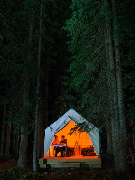 Home sweet home consists of a tent already set up on your arrival at ...