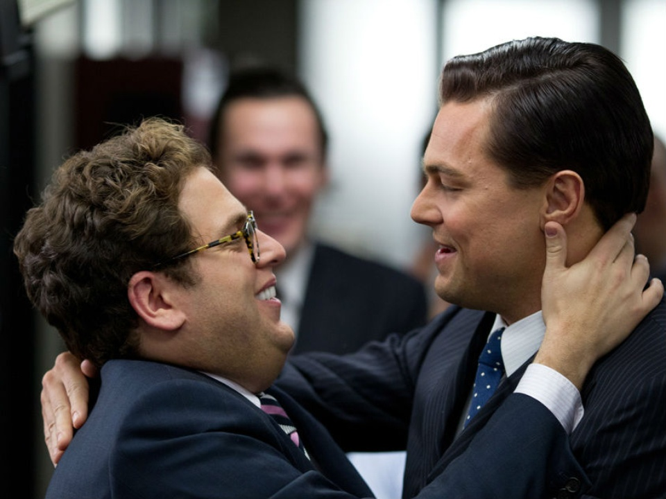 The Wolf of Wall Street with Leonardo DiCaprio and Jonah Hill