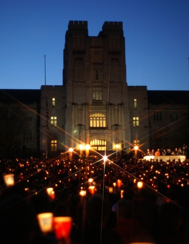 Austin Photo Set: News_Joe Faina_Virginia Tech_Dec 2011_candlelight vigilance