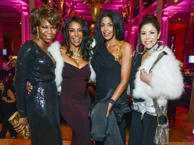 10 Vanessa Sobers, from left, Tiffany Smith, Ursaline Hamilton and Erika Bagwell at the Children's Museum Gala October 2013