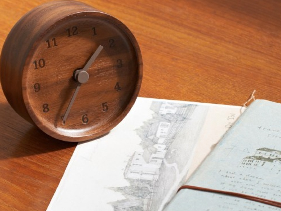 Muku wooden desk clock from Dwell