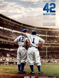 Movie poster for 42, a film about Jackie Robinson