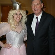 6 Alex Kainer as Glenda the Good Witch, left and Gary Swartz at the Seven Acres Gala February 2014
