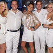 Courtney Marsh, Casey Crossland, Ellie Couch, Jared Hutchins, Tierney Kaufman, white party