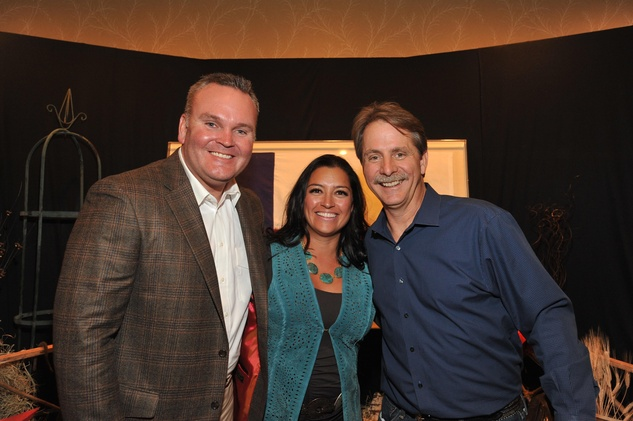 Jeremy and Melinda Thigpen, from left, with Jeff Foxworthy at the Boys and Girls Country Gala November 2014
