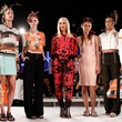 Gwen Stefani and models at L.A.M.B. spring 2015 presentation