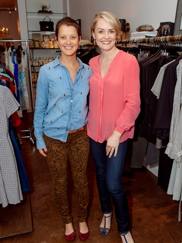 2 Alice Johnson, left, and Julie Rhodes O'Neal at the Julie Rhodes Fashion & Home Nonootrunk show for Houston Children Give Back January 2014