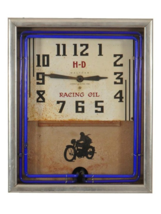 Eddie Wilson_Armadillo World Headquarters_Threadgill's_auction_Burley Auction Gallery_Harley Davidson Waltham clock