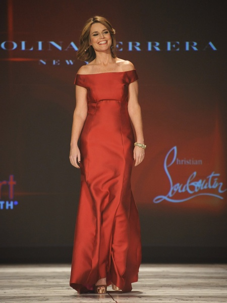 The Heart Truth 2013 Fashion Show, Savannah Guthrie wearing Carolina Herrera