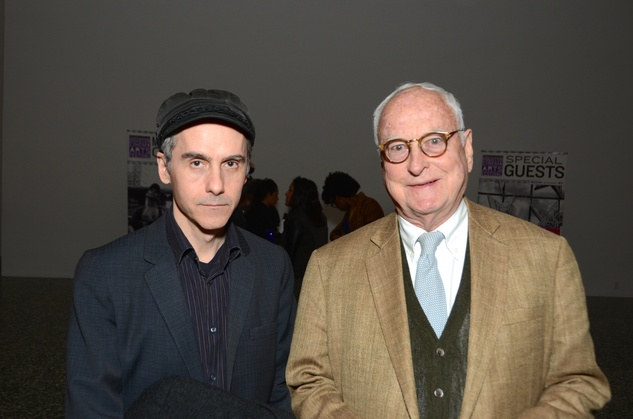 Jim Cowen, left, and James Ivory at the Houston Cinema Arts Festival opening party November 2014