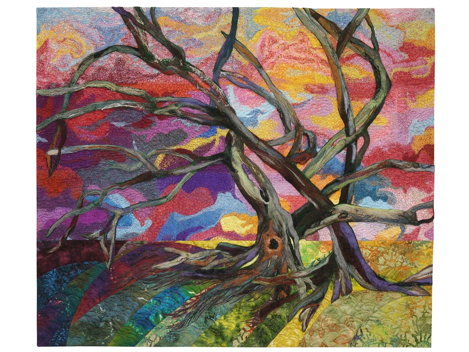 5 Felted Trees International Quilt Festival special exhibit quilts October 2014