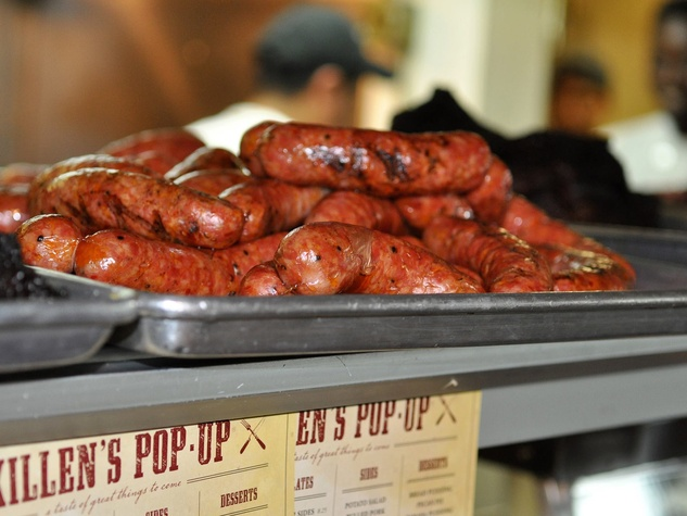 Killen's BBQ barbecue sausage