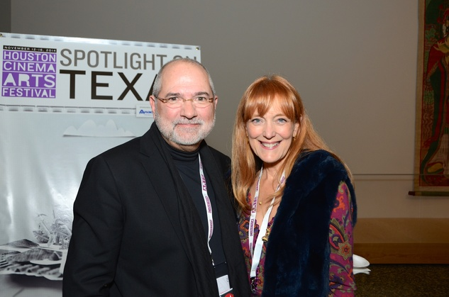 Bob and Gracie Cavnar at the Houston Cinema Arts Festival opening party November 2014