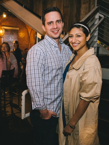 11 Dominic Farino and Annie Rupano at Dine Around Houston at Sparrow Bar & Cookshop