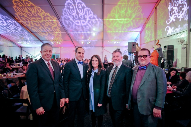 Moe Boughaba, from left, Adbel Elkhadiri, Rudeina Baasiri, Steven Evans and David Klonkowski at the FotoFest opening party March 2014