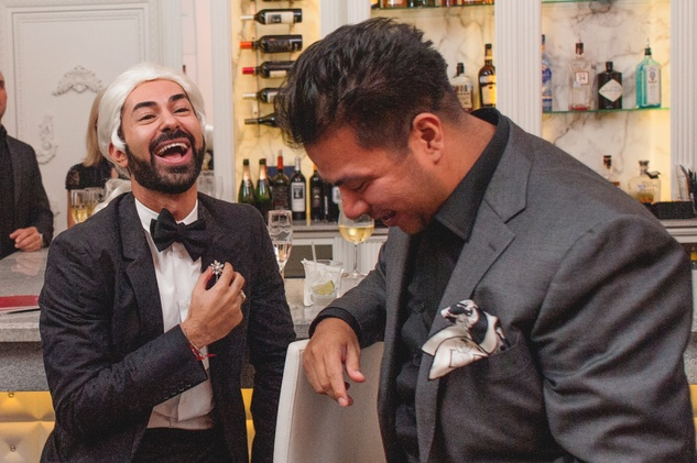 50 Fady Armanious, left, and Sergio Morales at the Stages Repertory Theatre Soiree Marie October 2014