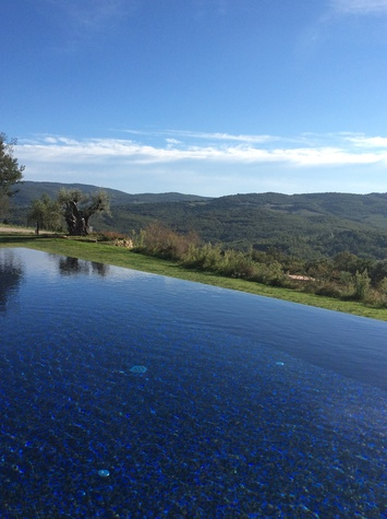 Jane Howze Italy trip Tuscany September 2014 Infinity pool at Castello di casoula