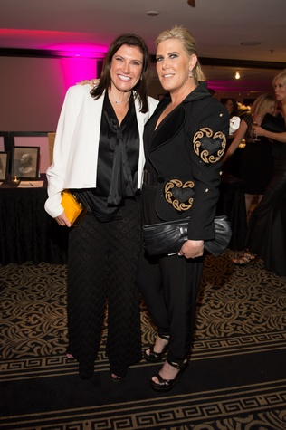 0268 Rosemarie Johnson, left, and Courtney Hopbson at the Pet Set Soiree September 2014