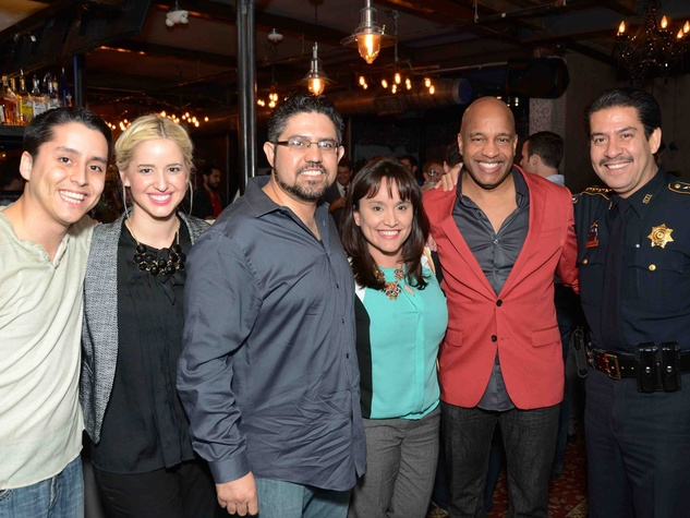 Andre Perez, from left, Lauren Smith, Albert Gonzalez, Adriana Perez, Wayne Martin and Adrian Garcia at Blue Cure Young Professionals February 2014