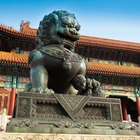 Beijing, China, Forbidden City, sculpture
