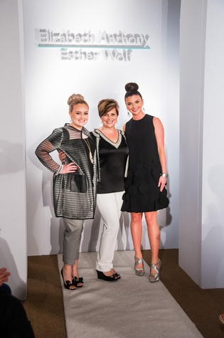 83 Chelsea Wallace, from left, Rhonda Sandel and Peyton Saverance at Elizabeth Anthony's Generations of Glamour event May 2014