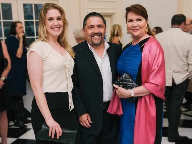 0006, CAC kick-off party, March 2013, Jennifer Roosth, Bruce Padilla, Barbara Van Postman