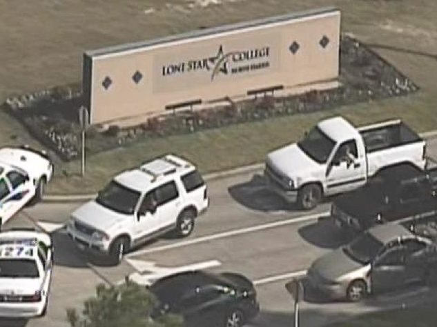 Lone Star College shooting, police cars, January 2013