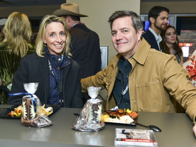 Laurann Claridge, William Zeitz at Houston Rodeo Lucchese party March 2014