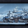 The Banner Saga by Stoic Studio video game with town and landscape