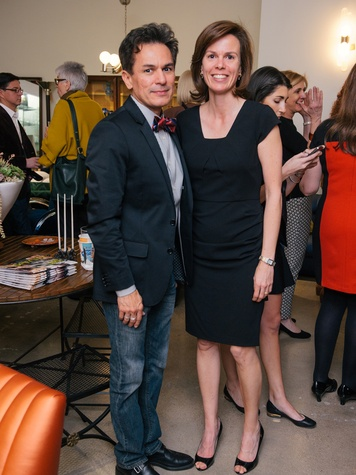 5 David Milstead and Emily Griffith at the Lynn Goode Vintage opening reception March 2014