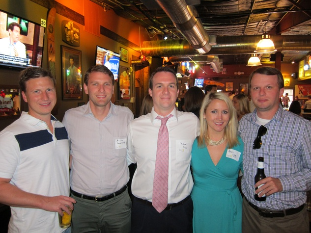 04_ Blake Cantley, Brandon Lauderdale, Michael and Lexi Long and Adam Curley Hariri_Friends of DePelchin Happy Hour Little Woodrow's