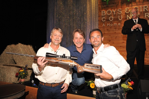 Bryan Herr, from left, Jeff Foxworthy and Luis Flory at the Boys and Girls Country Gala November 2014