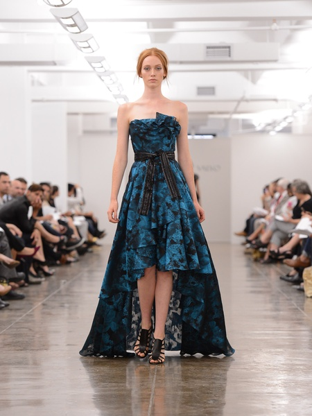 Clifford, Fashion Week spring 2013, September 2012,, Carmen Marc Valvo, blue high-low gown