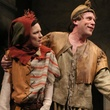 Elizabeth Bunch as Joss, Jeremy Webb as Stuart and Jeffrey Bean as King in the Alley Theatre's  production of Fool