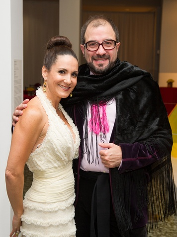 Daniela Barcelo and Henrique Faria at the MFAH Latin American Experience November 2013