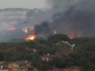 Austin Photo Set: News_Kevin Benz_KXAN Wildfires_August 2011_helicopter