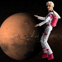 Mars Explorer Barbie with Mars