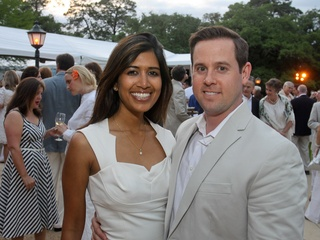 Hermann Park Conservancy Gala April 2013 Divya Brown and Chris Brown