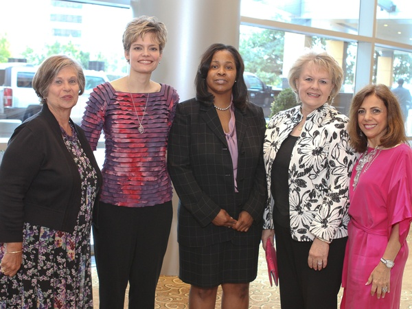 News_Ted Williams luncheon_May 2012_Gerry Thielemann_Tracey Brashears-Schultz_Charolette Carter_Linda Piper_Denise Kay