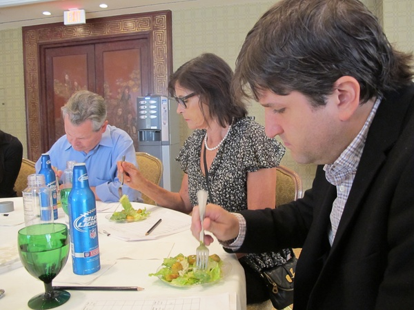 Four Seasons, Caesar salad judging, October 2012, judges